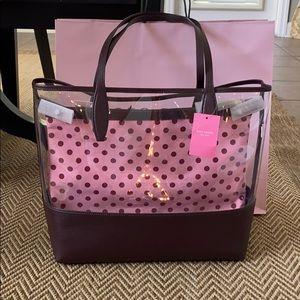 NWT Auth Kate Spade Large Triple Compartment tote